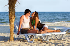 Sensual young couple Stock Images