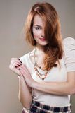Sensual young redhead. Royalty Free Stock Photo