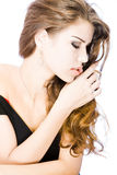 Sensual young woman Royalty Free Stock Image