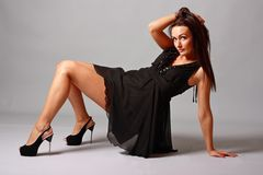 Sensual young woman Royalty Free Stock Image