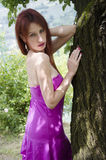 Sensual young woman with beautiful long red hair Royalty Free Stock Image