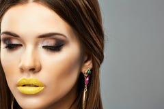 Sensual young woman close up beauty Stock Photos