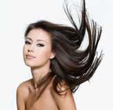 Sensual young woman with creative hairstyle Stock Photography