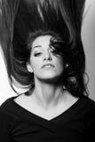 Sensuality är i ögonen. i svartvitt Royaltyfri Foto
