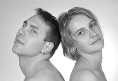 Sensuality. Portrait of a young couple Royalty Free Stock Photography