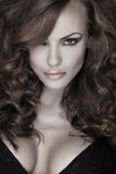 Sensuality and attractive young woman Royalty Free Stock Image