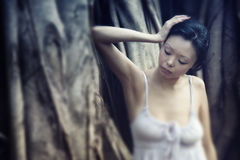 Sensuality at banyan Royalty Free Stock Photos