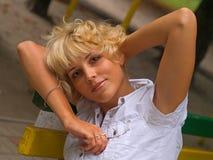 Sensuality  blond Stock Image