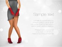 Sensuality long legs Stock Photos