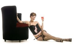 Sensuality in the thirties royalty free stock images