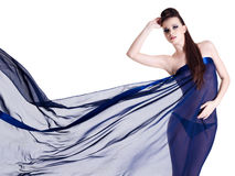 Sensuality woman in chiffon Royalty Free Stock Images