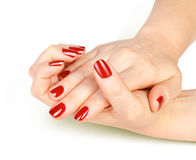 Sensuality woman nails Stock Images