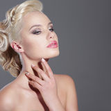Sensuality. Young Dreamy Blonde Looking Away Stock Images