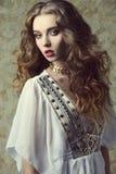 Sensueel antiek meisje Royalty-vrije Stock Afbeelding