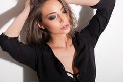 Sensueel jong brunette royalty-vrije stock fotografie