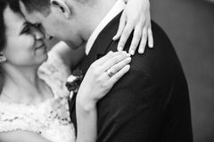 Sensueel omhels van jong gelukkig paar die hun liefde vieren Rebecca 36 royalty-vrije stock afbeelding