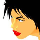 Sensueel vrouwengezicht stock illustratie