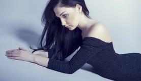 sensueel vrouwenmodel Royalty-vrije Stock Foto's