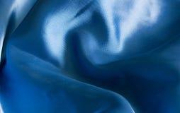 Sensuele blauwe zijde Royalty-vrije Stock Foto's