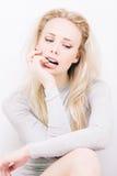 Sensuele blond Stock Foto's
