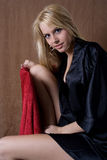 Sensuele blonde babe royalty-vrije stock afbeeldingen