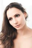 Sensuele brunette Stock Foto's
