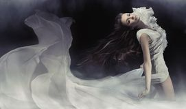 sensuele donkerbruine dame Royalty-vrije Stock Afbeelding