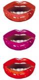 Sensuele lippen Stock Foto