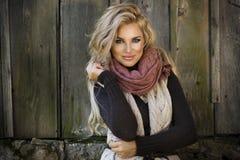 Sensuele mooie blondevrouw Stock Afbeeldingen
