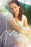 Sensuele vrouw in de zomer Royalty-vrije Stock Afbeeldingen