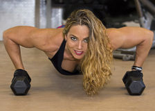 Sensuous in the Gym Royalty Free Stock Images