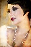 Sensuous short haired brunette woman Royalty Free Stock Photo