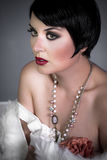 Sensuous short haired brunette woman Royalty Free Stock Photography