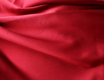 Sensuous Smooth Red Satin. Background Royalty Free Stock Photography