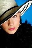 Sensuous woman in hat Stock Photography