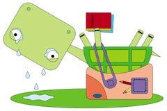Sent för skola vektor illustrationer