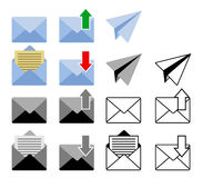 Sent and get mail icon. Vector illustration of sent and get mail icon Royalty Free Stock Images