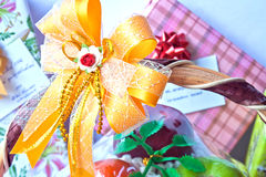 Sent gifts happiness. Gift in in happiness events Stock Photography