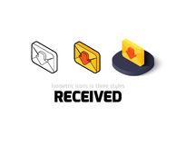 Sent icon in different style. Sent icon, vector symbol in flat, outline and isometric style Royalty Free Stock Photos