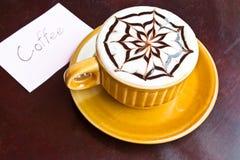 Sent kaffe med choklad Arkivbild