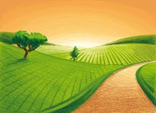 Sent landskap Arkivbild