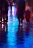 sent - natten går Arkivfoto