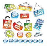 Sent of Price Tag Icons Stock Images