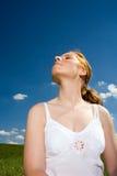 Senta l'odore dell'aria fresca Immagini Stock Libere da Diritti