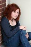 Sentada adolescente ocasional 5 Imágenes de archivo libres de regalías