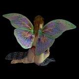 Sentada de la hada de la flor Imagenes de archivo
