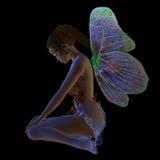 Sentada de la hada de la flor Imagen de archivo libre de regalías