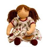 Sentada de la muñeca de trapo Imagenes de archivo