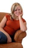 Sentada de la mujer Fotos de archivo libres de regalías