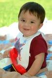 Sentada del bebé Imagenes de archivo